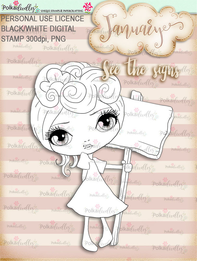 See the Signs - January. Craft digi download