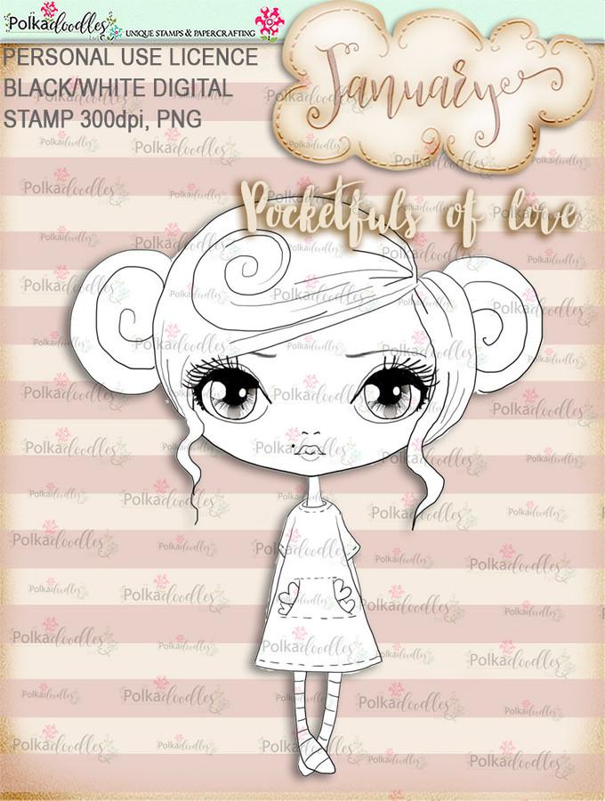 Pocketfuls of Love - January. Craft digi download