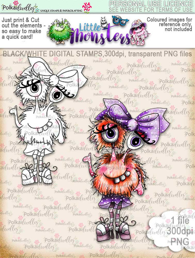 Little Monsters Bozzeyeboo digi stamp download