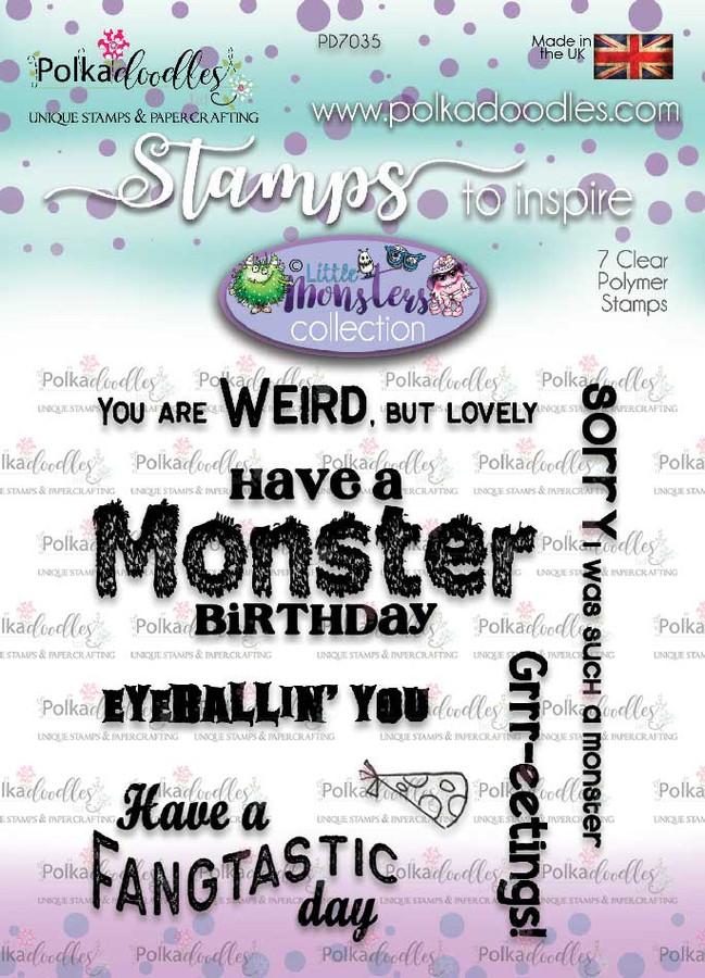 Little Monsters stamp set - monster messages