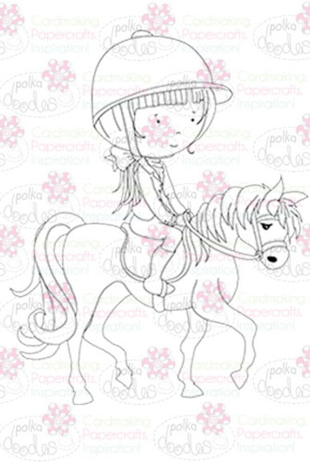 Horse Riding digital stamp download