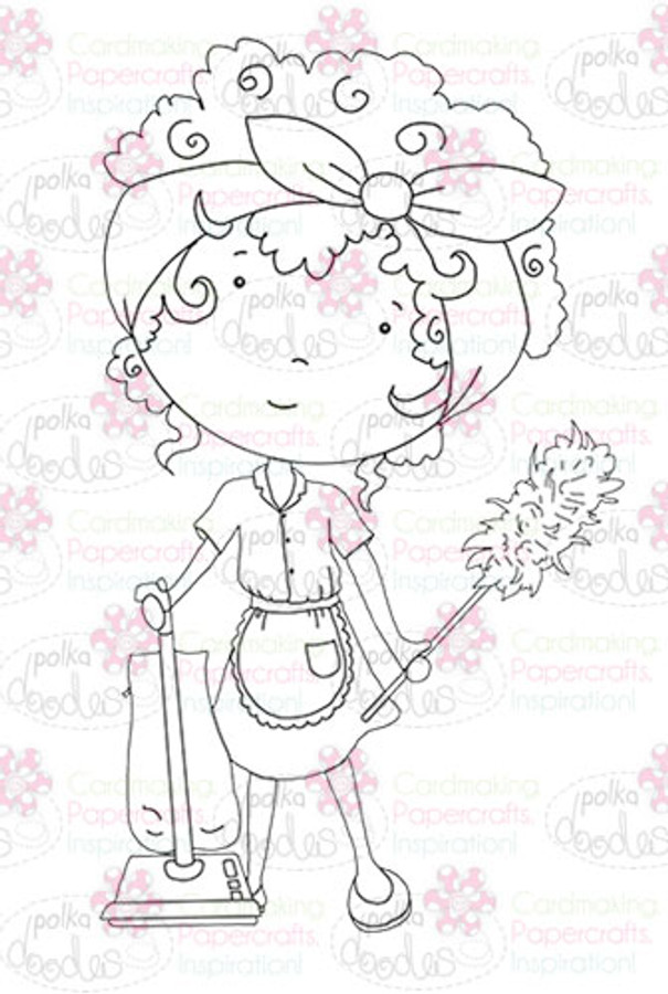Cleaning Lady digital stamp download