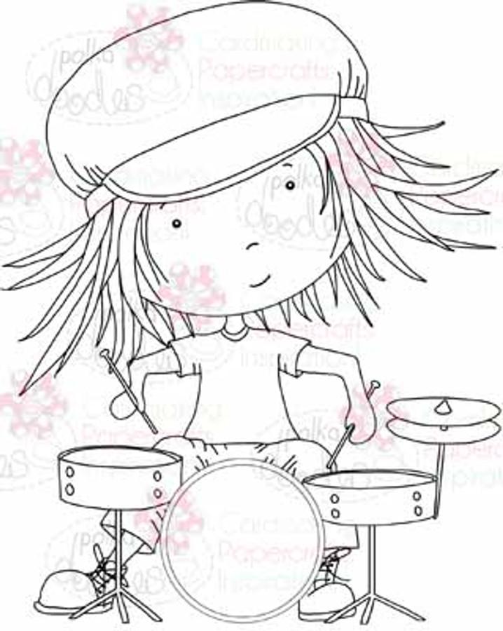 Drummer Troy digital stamp download