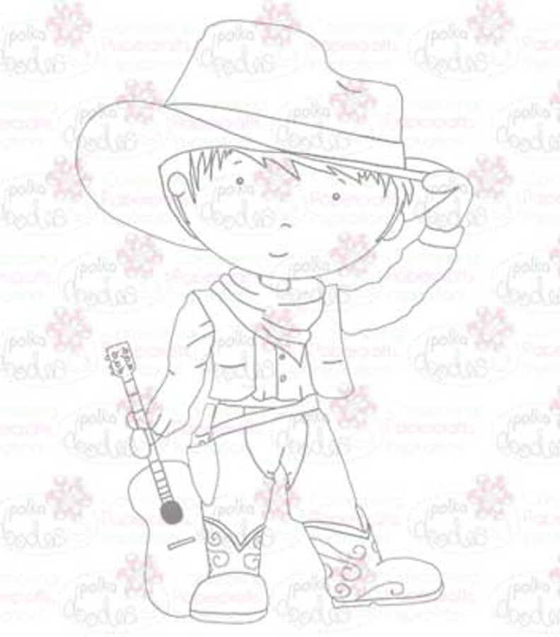 Cowboy digital stamp download