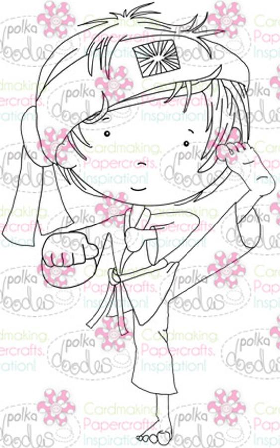Karate Boy digital stamp download