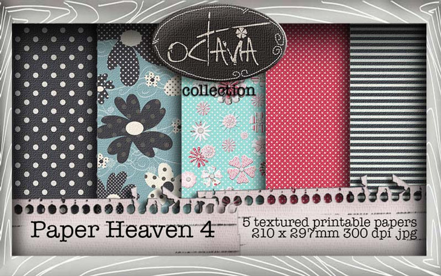 Octavia Moonfly - Paper Heaven 4 Digital Craft Download Bundle