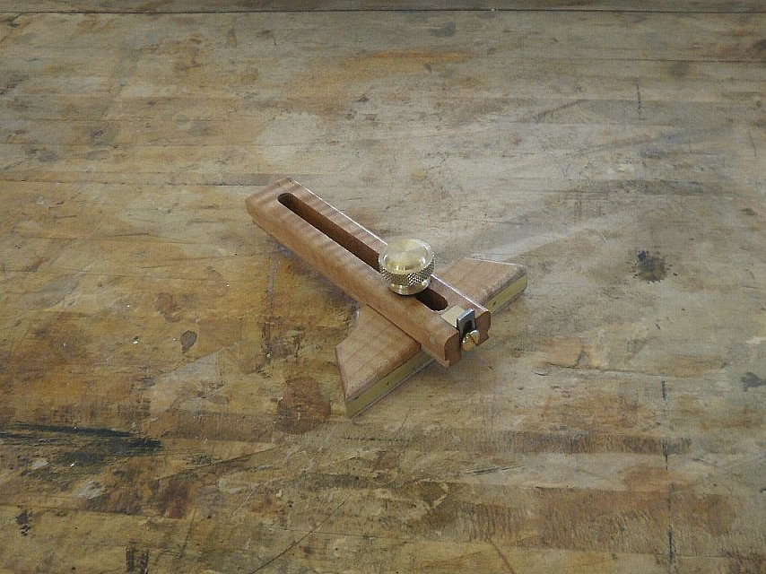 "4"" Curly  Maple Marking Gauge"