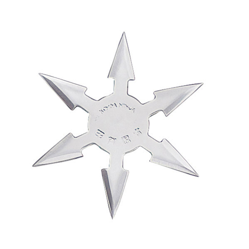 "4"", 6 point Moon throwing star"