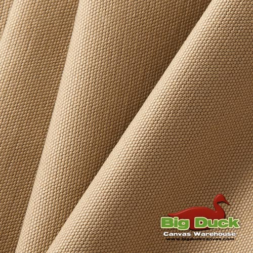 Cotton Duck Heavyweight 100% Ring-Spun Roll/Yards-Khaki Tan (Wholesale Factory Seconds, Popular Brand)