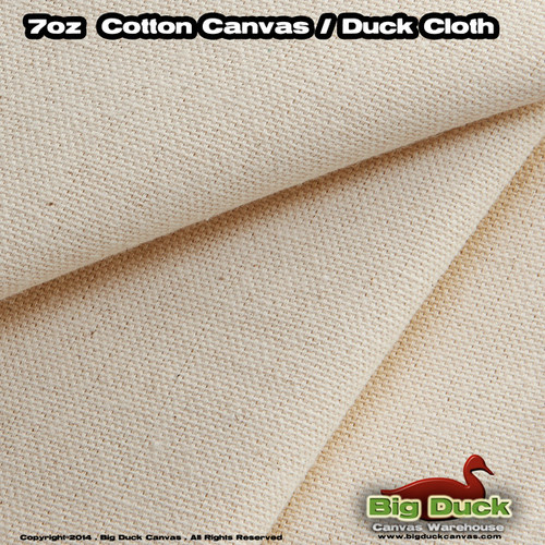 """Wholesale 7oz/75"""" Natural Canvas Discounted Overstock Cotton Duck Fabric"""