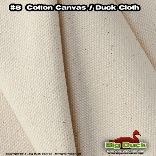 "#8/48"" Cotton Canvas Fabric / Duck Cloth (18oz) - NATURAL"