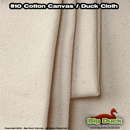 """#10/120"""" Cotton Canvas Fabric / Duck Cloth Roll 15oz, NATURAL, ROLL, 25 YDS"""