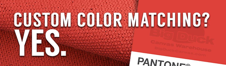 Canvas/Fabric Custom Color Matching - Custom Dye Lots