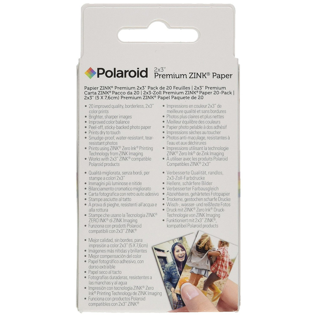 Polaroid 2x3 inch Premium ZINK Photo Paper (20 Sheets)