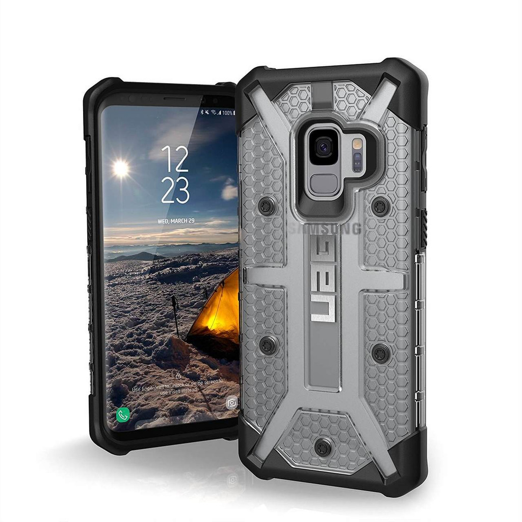 UAG Plasma Galaxy S9 Case   Ice   Front and Back