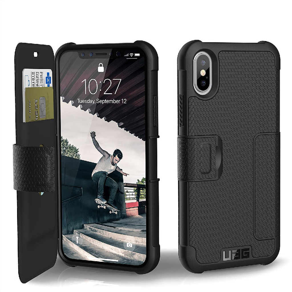 UAG Metropolis iPhone X Case | Black | Front and Back