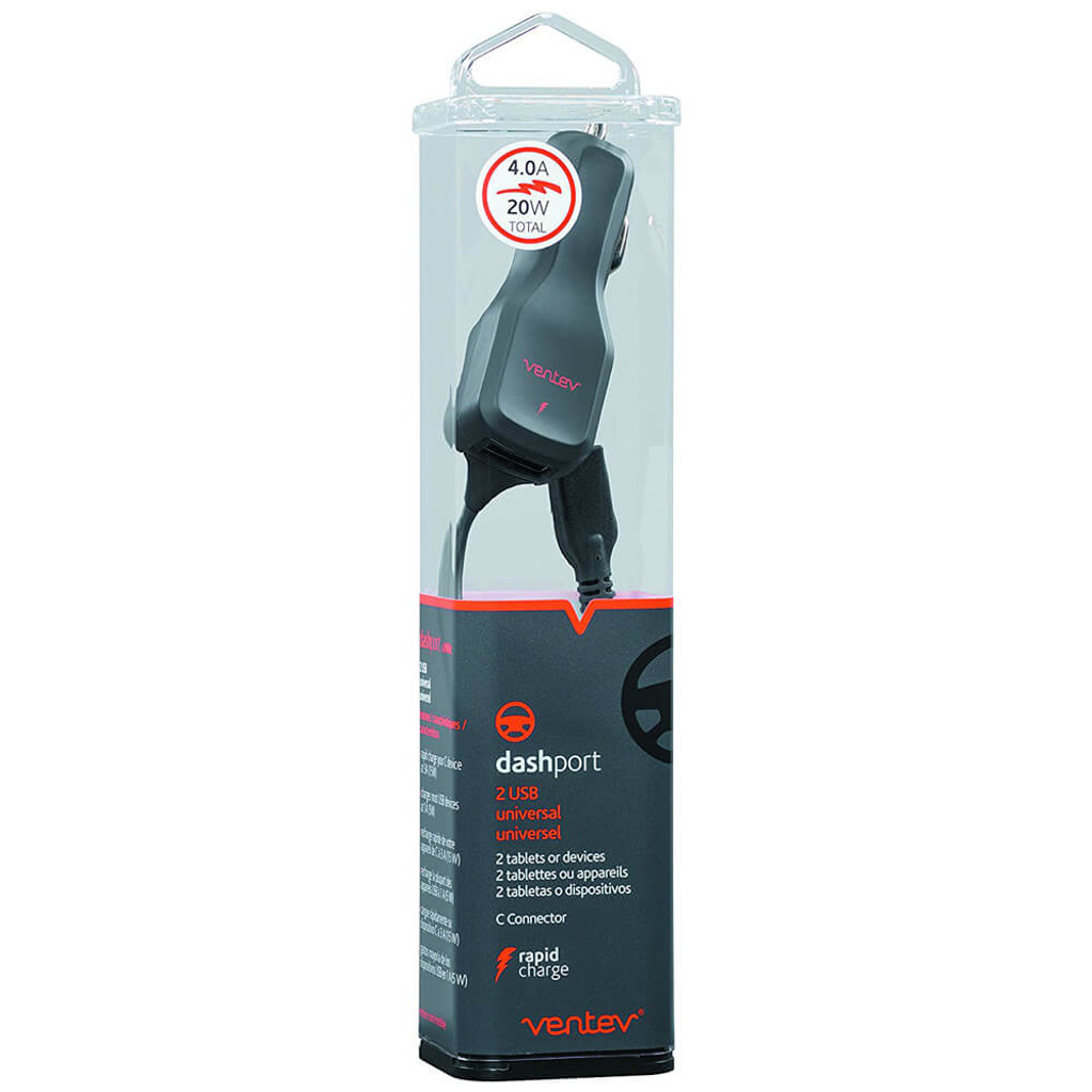 Ventev USB-C Car Charger | Retail Packaging