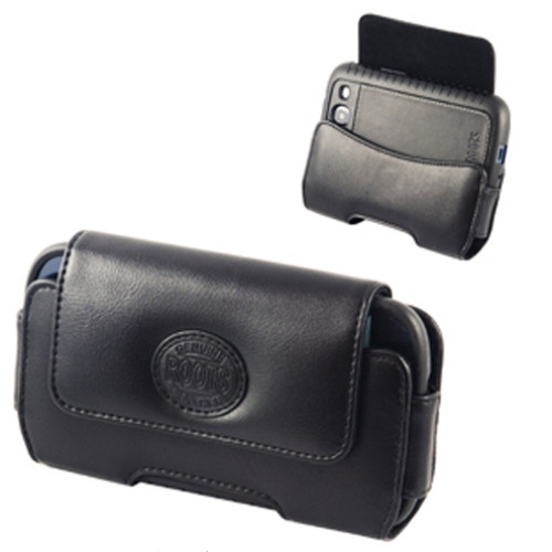 Roots Horizontal Leather Pouch | Open
