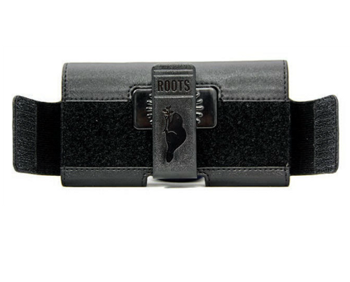Roots XL Leather Pouch | Back