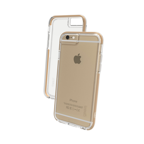 iPhone6/6s Gear4 D3O Space Grey IceBox case | Front and Back - Clear