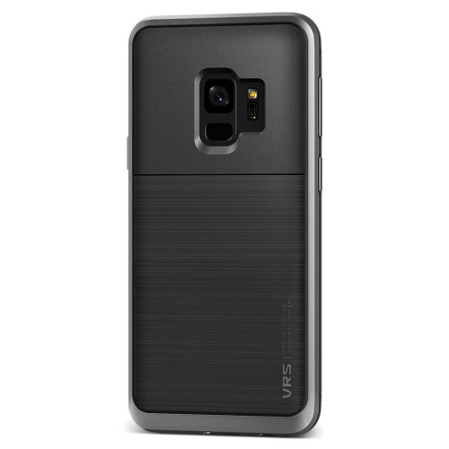 VRS Design High Pro Shield Samsung Galaxy S9 | Steel Silver | Back