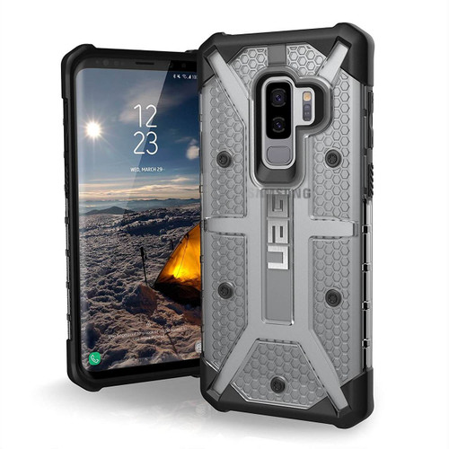 UAG Plasma Galaxy S9 Plus Case   Ice   Front and Back