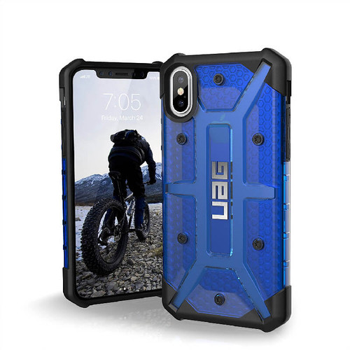 UAG Plasma iPhone X Case | Cobalt | Front and Back