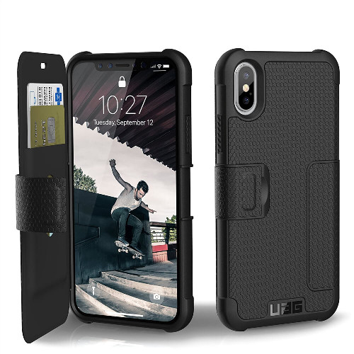 UAG Metropolis iPhone X Case   Black   Front and Back