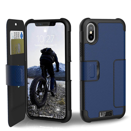 UAG Metropolis iPhone X Case | Cobalt Silver | Front and Back