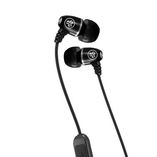 JLab Audio Metal Bluetooth Wireless Rugged Earbuds | Black | Close-up