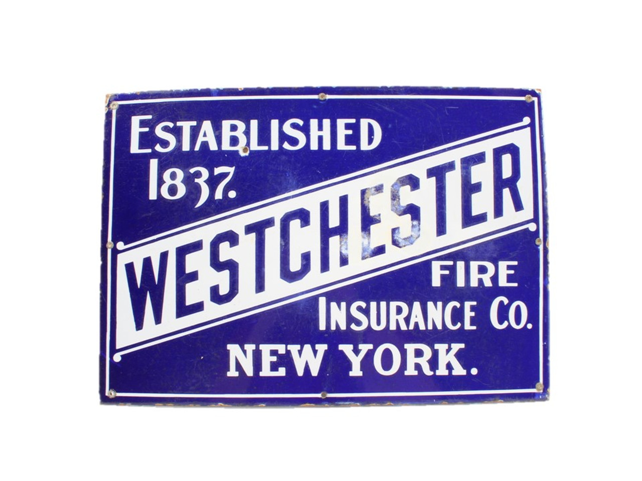 Old Westchester Fire Insurance Company Advertising Sign