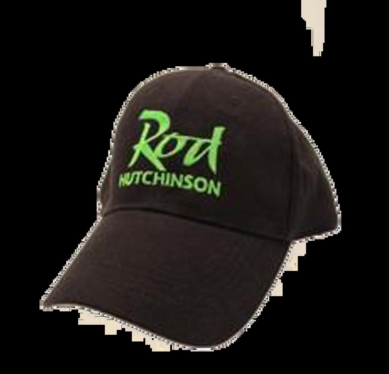 Rod Hutchinson Baseball Cap Black with green Emborodery
