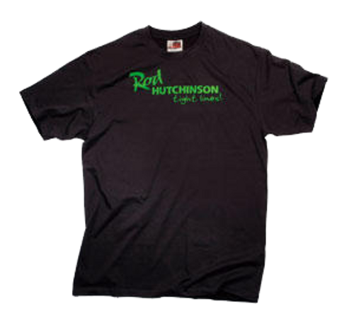 Rod Hutchinson T-shirt Black with green print