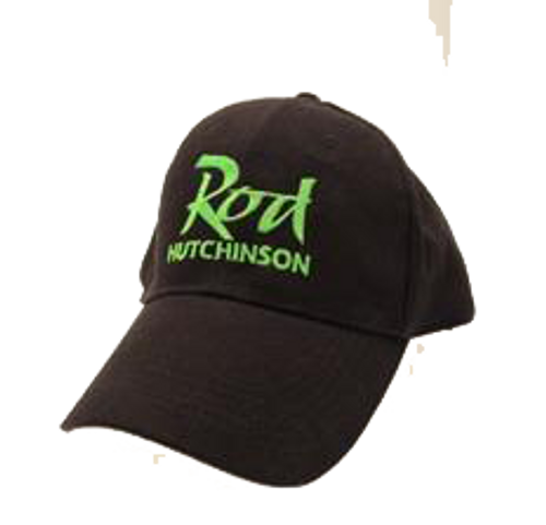 Rod Hutchinson Baseball Cap Black with green Emborodery