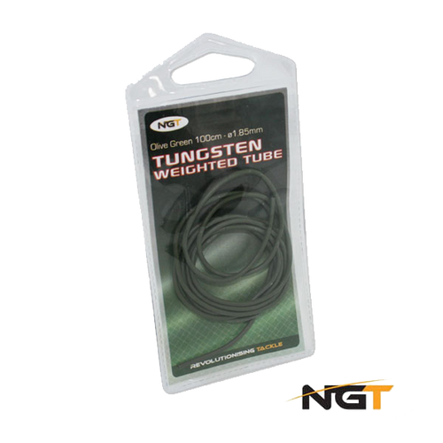 NGT 100cm Tungsten Weighted 1.85mm Olive Green Tube