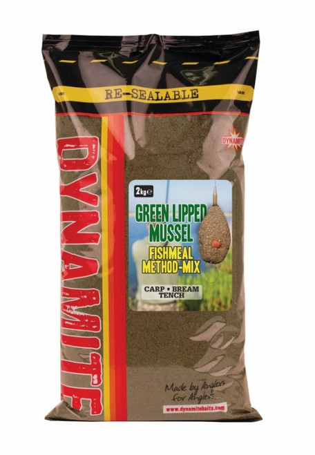 Dynamite Baits Green Lipped Mussel Fishmeal Method Mix - 2Kg