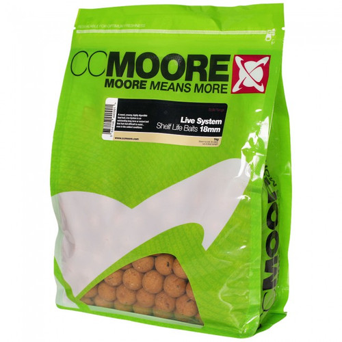 CC Moore Live System Shelf life Boilies 18mm 1kg