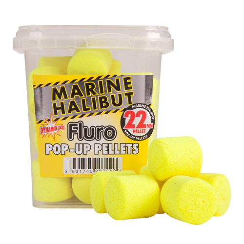 Dynamite Baits Yellow Marine Halibut Pellets Fluros 22mm