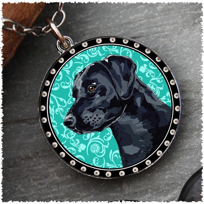Labrador Retriever Reversible Circular Pendant