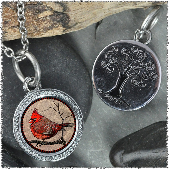"Cardinal ""Tree"" Pendant"