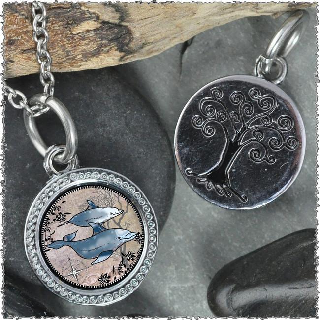 """Dolphin """"Tree"""" Pendant"""