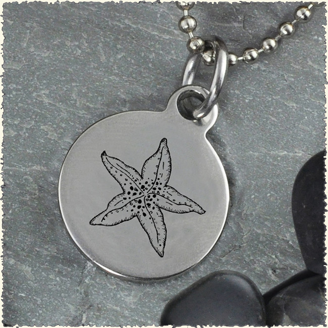 Starfish Reversible Stainless Steel Pendant