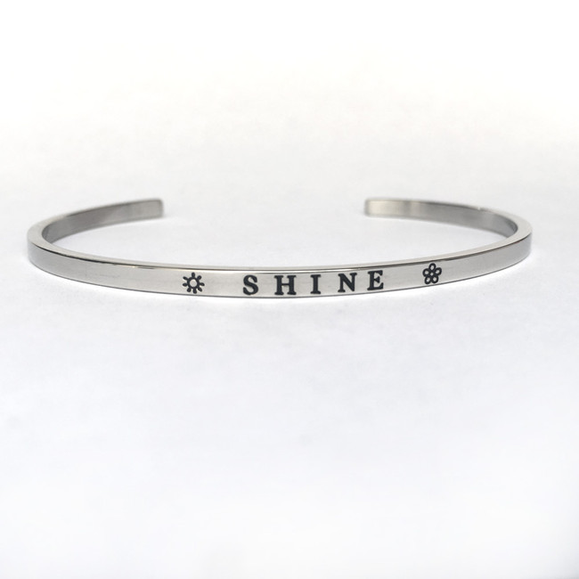 """SHINE"" Stainless Steel Cuff Bracelet"