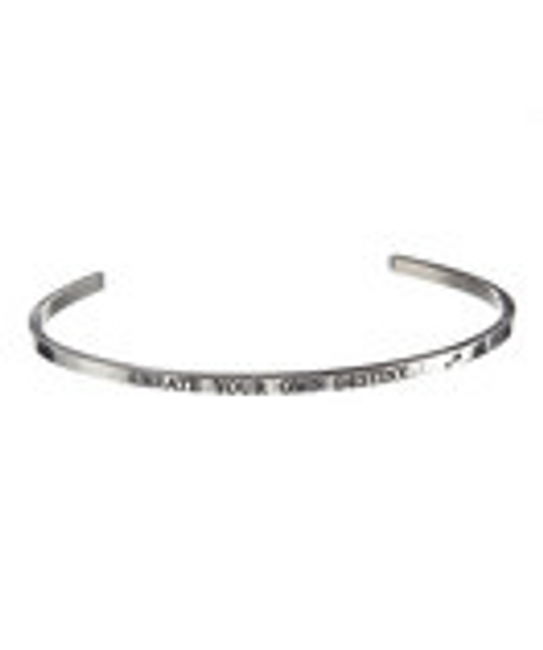 """CREATE YOUR OWN DESTINY"" Stainless Steel Cuff Bracelet"
