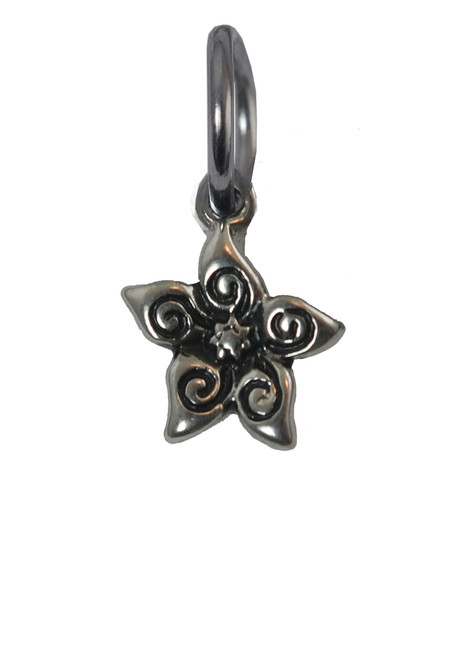 Jasmine Flower Stainless Steel Charm