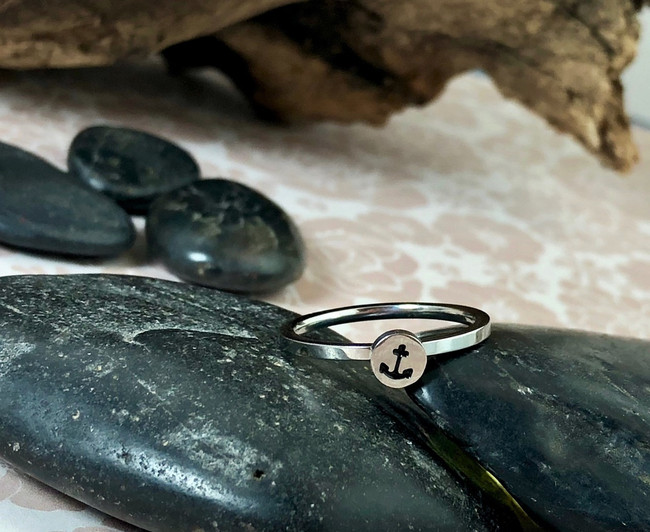 Anchor Stacking Art Ring
