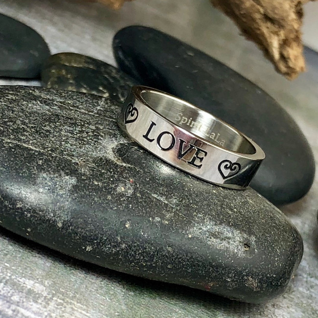 Love Stainless Quote Ring