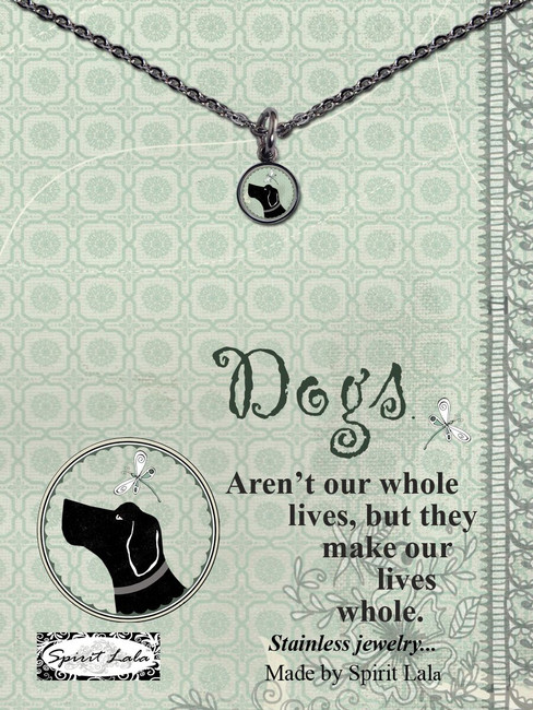 Carded Dog Small Circle Necklace