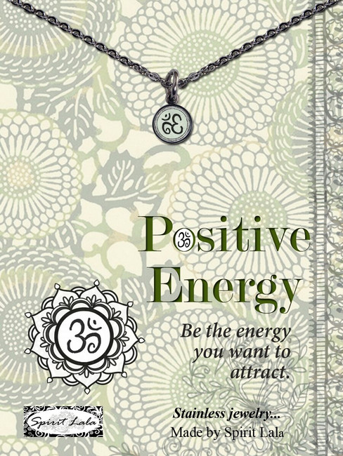 Carded Om Positive Energy Small Circle Pendant