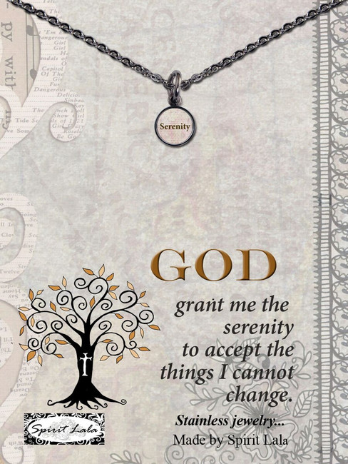 Carded Serenity Small Circle Necklace